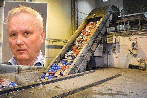ØNSKER BEVISSTGJØRING: Leder i Naturvernforbundet, Leif Wasskog (innfelt), er ikke fornøyd med renovasjonsarbeidet i Finnmarkskommunene. En rapport utført av forbundet viser store sprik på avfallshåndteringen i de forskjellige kommunene. Montasje.