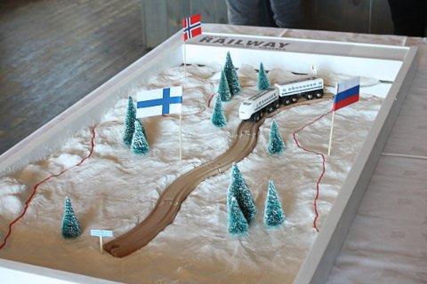 ARKTISK KORRIDOR: Modell av den planlagte jernbanestrekningen.