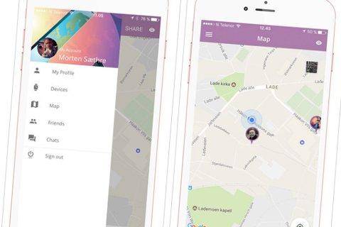 POSISJON: Med denne applikasjonen kan man dele sin posisjon med alle til enhver tid – dersom man ønsker det.