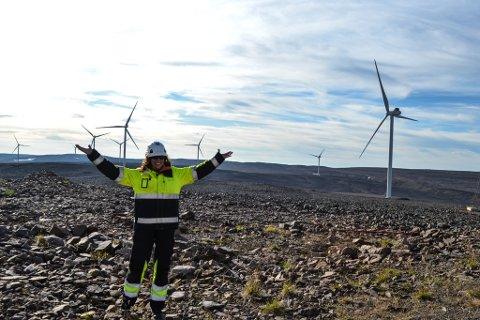 STOR DAG: Fem og et halvt år etter at konsesjonen ble tildelt, er det klart for åpning av Hamnefjell vindkraftpark.