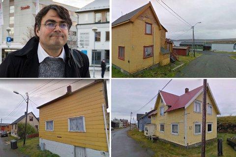NEDRE PRISSJIKT: En del slitte boliger i Vardø går for mellom 50.000 og 100.000 kroner. I de billigste tilfellene ser ikke advokat Remi Strand så mye poeng i å annonsere på Finn. For tiden prøver han å finne kjøpere til en håndfull gamle hus i sentrum.