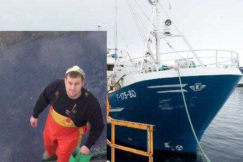 SKIPPER: Mads Gerhardsen er skipper på  «MS Skarberg» med hjemhavn i Båtsfjord. Selv bor han 28-åringen i Honningsvåg.
