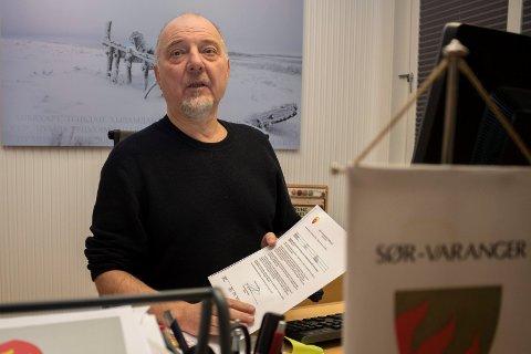 Artikkelforfatteren kritiserer ordfører i Sør-Varanger, Rune Rafaelsen (avbildet).