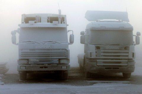 KULDE: Renovasjonsbilene vil ikke få de nærmeste dagene. Her er de avbildet nediset ved en tidligere anledning.