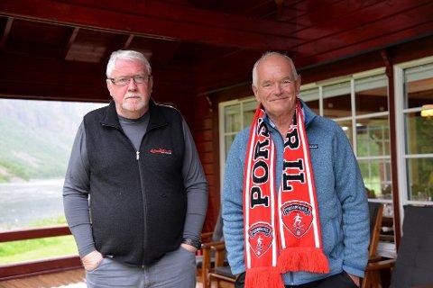 BIDRAGSYTER: Trond Mohn har bladd opp millionbeløp til prosjektet. Her sammen med Kjell Kolbeinsen.