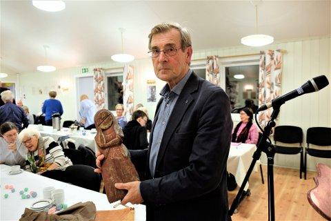 KLENODIUM: Her er klenodiumet Einar Niemi hadde med seg, og som er trygt oppbevart i safen til menighetsrådet.