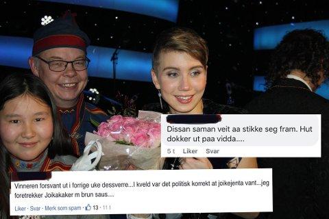 HETS: Ella Marie Hætta Isaksen vant Stjernekamp på lørdag, men det var ikke alle som var like fornøyd med at vinneren var samisk.