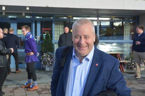 Bård Hoksrud, Landbruks- og matminister, på besøk til Alta FrP årsmøte.