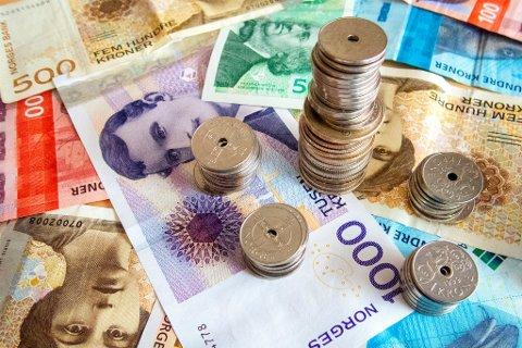 PENGER: Regjeringen la mandag 8. oktober frem sitt forslag til statsbudsjett for 2019.