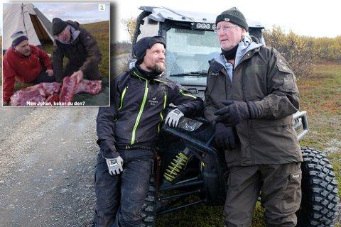 UVANT: Hellstrøm, her med Johan Mathis Buljo, er mer vant til å steke kjøtt.