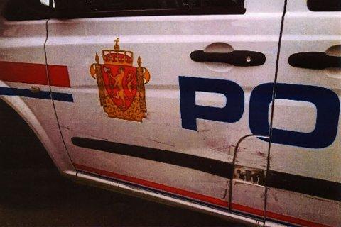 RYGGET PÅ: Politibilen fikk seg en trøkk tidligere i år.