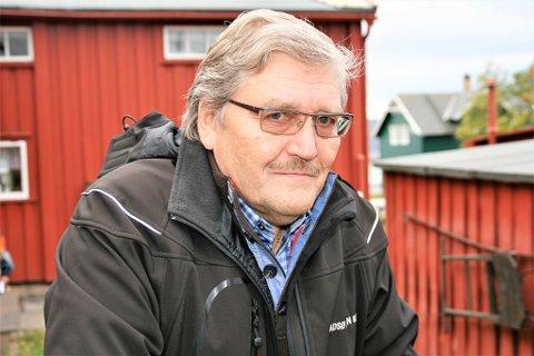 ALDRI HØYRE: Selv om Bernt Aksel Jensen og Vadsølista har et samarbeid med Høyre og KrF, er det uaktuelt for ham å melde seg inn i ett av disse partiene. Derimot har han sans for Senterpartiet.