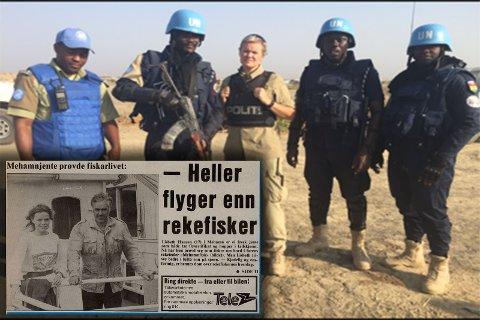 FRA MEHAMN TIL SØR-SUDAN: Lisbeth Oddveig Hansen hadde en av sine første jobber på reketråleren til faren sin i Mehamn, og bestemte ganske tidlig at det ikke var fisker hun skulle bli. Å jobbe for FN i Sør-Sudan lokket derimot for den reiselystne Finnmarkingen.