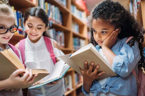 LESING UTEN VEILEDNING: Det blir vanskeligere for barn å finne fram til informasjon dersom skolebibliotekarene forsvinner. Illustrasjon.