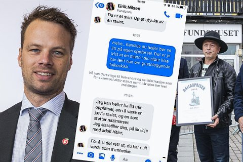 Rant over: «For å si det rett ut, du har null verdi, som menneske», skrev Eirik Nilsen til stortingsrepresentant Jon Helgheim.