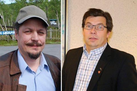 RO I HUSET: Ivar Johan Winther (til venstre) går til ny jobb i Tana kommune med samme lønnsbetingelser. Winther ble forsøkt oppsagt, men han og kommunen ved rådmann Jørn Aslaksen kom til enighet før saken nådde rettssalen. Ingen av dem ønsker å si så mye om enigheten, og avtalen er ikke offentlig.