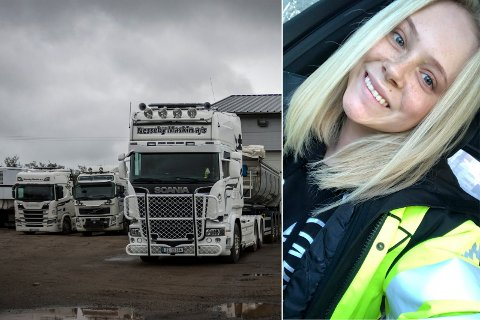 NY LEDER: Nesseby Maskin AS fikk ny sjef forrige uke. Susanne Utse Olsen (23) overtok jobben til faren, og leder kommunens største bedrift innen grunnarbeid.