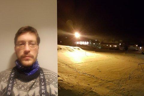 ILDSJEL: Leif Ola Kolås venter bare på at kommunen skal rydde snø på banene, så vil han sprøyte vann slik at det blir nye isbaner i Vardø.