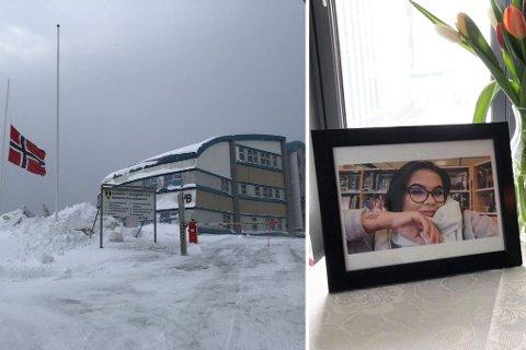 SØRGER: Hammerfest videregående skole sørger etter at Karine Emilie Negård mistet livet i en scooterulykke i Olderfjord i Porsanger natt til søndag.