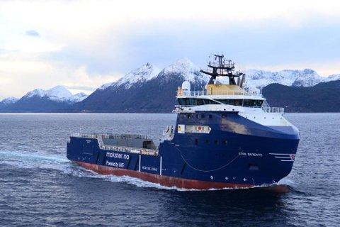 UTENFOR GJESVÆR: Eni Norges beredskapsfartøy «Stril Barents» ligger nå utenfor Gjesvær. Bildet er tatt ved en tidliger anledning.