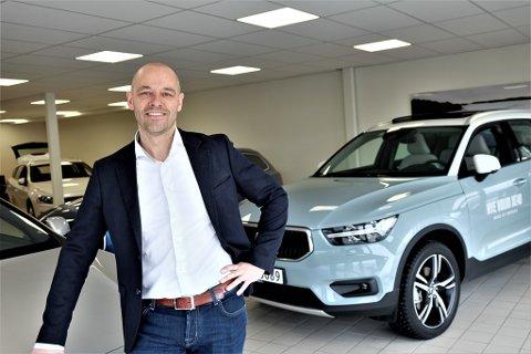 VOLVO: Glenn Tore Harila i den nye avdelingen for Volvo.
