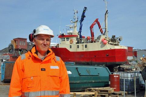 TAPER PENGER: Hammerfest Industriservice taper store penger på de nye karantenereglene. - Vi driver marginalt i vår bransje, så vi klarer ikke mange runder med dette, sier daglig leder Bengt Holmgren.