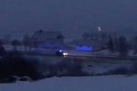 RYKKER UT: Bil i utrykning  ble observert  fredag kveld.