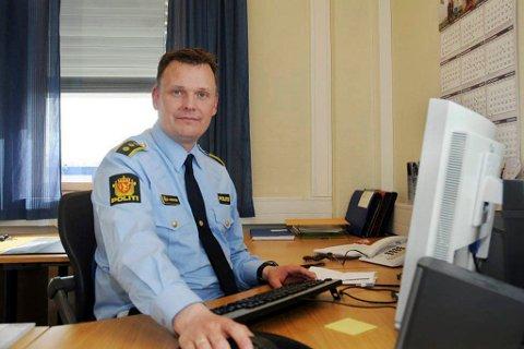 LENSMANN: Øyvind Lorentzen på Alta lensmannkontor. Han sier politiet har stort fokus på forebygging av narkotikamisbruk.