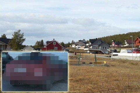 BILDET DELES: En skjermdump av denne røde bilen spres i en SMS-aksjon i Alta.