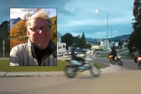 ER DRITTLEI: Harry Lund antar å ha klagd til politiet mellom 10–15 ganger på villmannkjøring med trimmet moped.