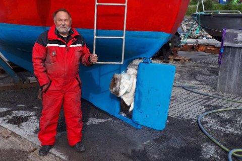REIN UFLAKS: Dette kadaveret satte seg fast i propellen til Helge Lyder.
