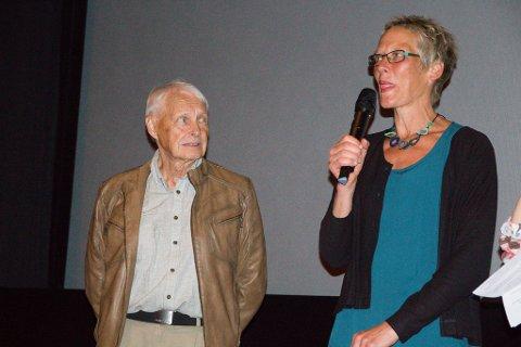 ÅPNET FILMEN: Hilde Korsæth og Karl-Fredrik Figenschou var selv til stedet da filmen ble vist.