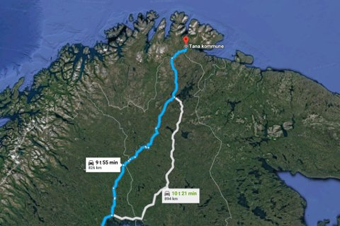 LANGT HJEMMEFRA: En person stjal bil i Tana bil og kjørte til Sverige.