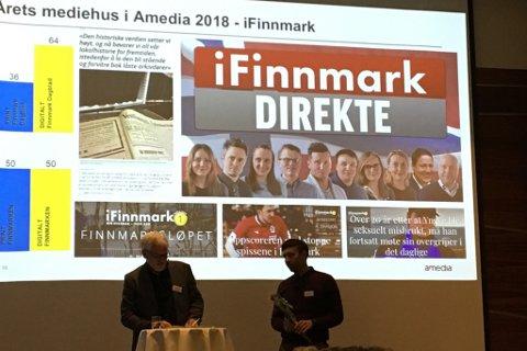 FIKK PRIS: Arne Reginiussen var tilstede under Amedias konferanse i Fredrikstad onsdag.