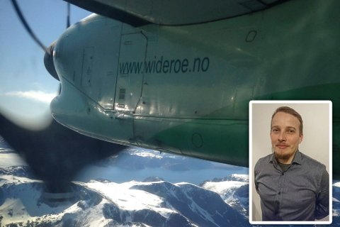 FORBANNET: Tom Vidar Olsen er forbannet over behandlingen fra Widerøe.