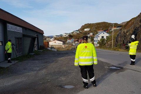 KONTROLL: Statens veivesen utførte kontroll i Honningsvåg. De stoppet 270 sjåfører.