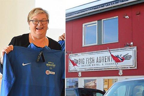 UTVIDER: Mona Saab og Big Fish Adventure Hasvik Hotel & Housing.