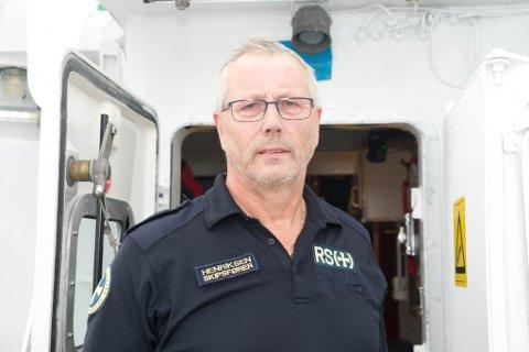 Stein Harald Henriksen er skipsfører på RS 110 Reidar von koss.