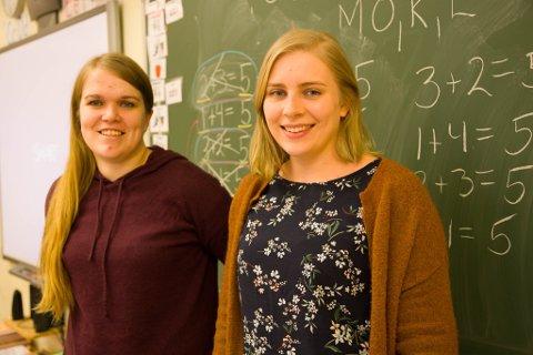 MATTELÆRERNE: Marte Schjølseth Iversen (til venstre) og Guri Haugen Aardal.
