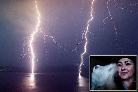 LYNET TOK STRØMMEN: Carina Prytz-Wallmann kan fortelle at lynet slo ned tre ganger på kort tid i Hasfjorden og tok strømmen i både huset og fjøset. Illustrasjon.