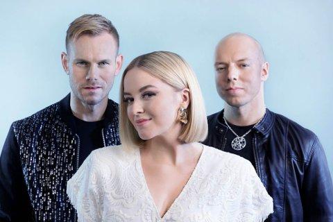 TRIO: Tom Hugo (til venstre), Alexandra Rotan og Fred René Buljo i KEiiNO skal delta i MGP 2019 med sangen «Spirit In The Sky».