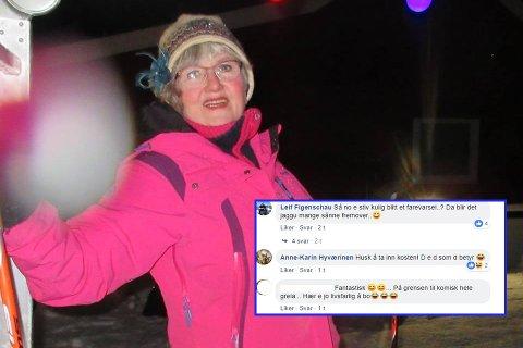IKKE BEKYMRET: Anne-Karin Hyværinen fra Nordkapp lar seg ikke skremme av farevarselet fra meteorologene. Hun er vant til tøft vær.