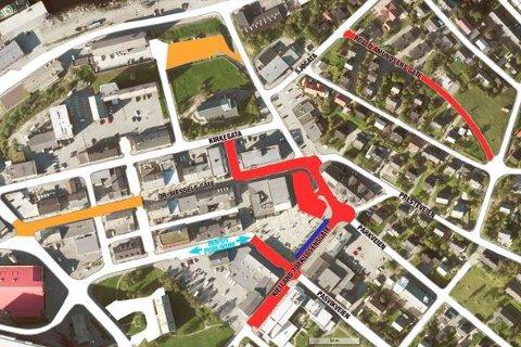 Her er kart over hvilke veier som blir stengt denne uken i forbindelse med frigjøringsjubileet.