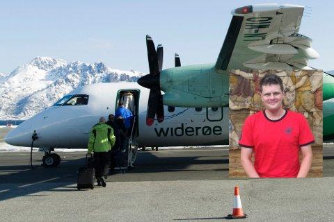 REAGERER: Cato Jensen reagerer på høye priser for bagasje hos Widerøe.