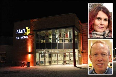 SPENNING: Wanja Berglund og Frode Wilhelmsen venter svar på hva som skjer med butikken onsdag.