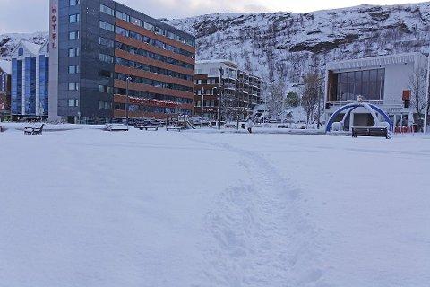 PÅFYLL: I Vest-Finnmark kommer det en del mer av dette i helgen. Illustrasjonsbildet er tatt i Hammerfest.