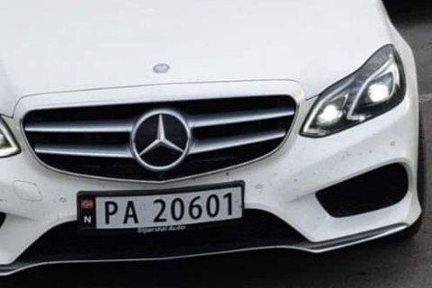 STÅLET: Politiet leter etter denne bilen.