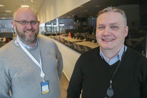 FRAMTID: Direktør i Hammerfest Næringsforening Espen Hansen og industrikoordinator hos Vår Energi Kaj Gunnar Dahl, inviterer næringslivet til et sniktitt inn i framtiden. - Vi kan vente oss ennå mer digitalisering framover, røper de to.