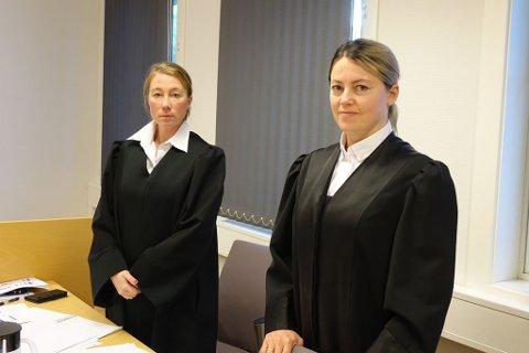 - EN BELASTNING: - Jeg kan opplyse om at overgrepet har vært en belastning for henne, og at hun mener at tingrettens dom er riktig, sier Line Hammari, som er fornærmedes bistandsadvokat. Til venstre ser du aktor i saken, politiadvokat Hanne Bernhardsen.