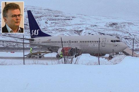 OPPGITT: Ifølge divisjonsdirektør for nasjonale tjenester, Harald Johnsen fører vinterrutene til SAS og Norwegian mellom Oslo og Kirkenes til store ekstrautgifter for Sykehusinnkjøp HF. Illustrasjonsfoto.